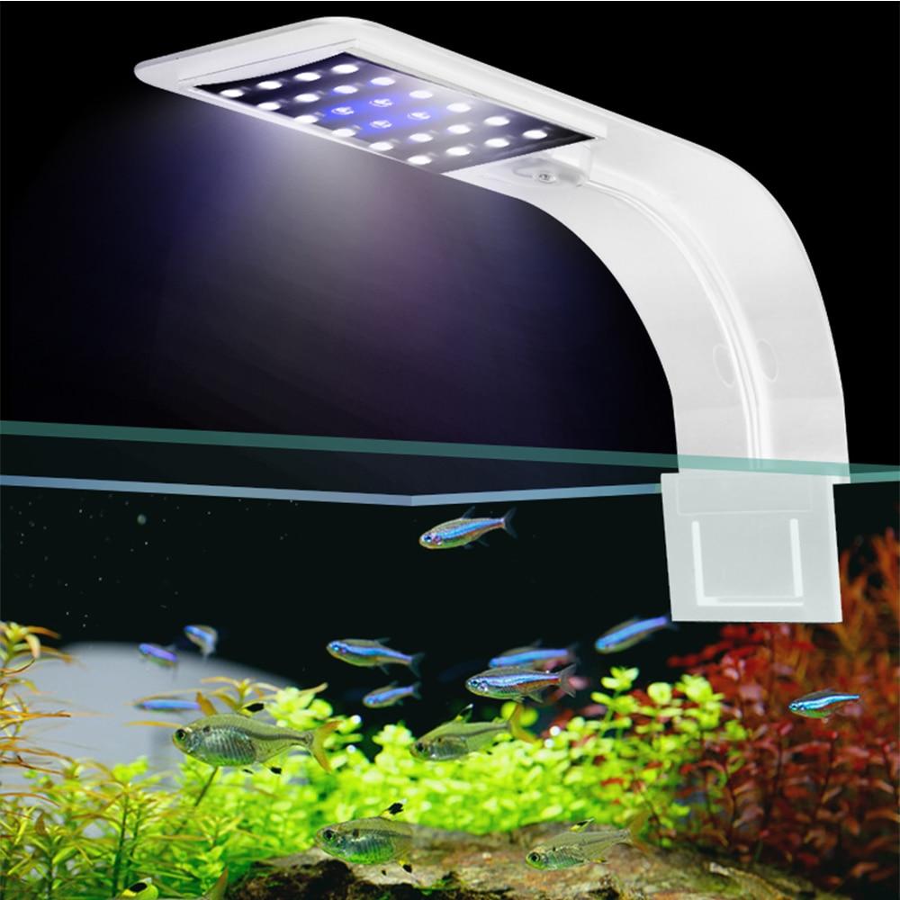 Super Slim 5W/10W/15W Aquarium LED Lighting Clip on Double Lamp Fresh Water Plants Grow Light LED Aquarium for Nano Fish Tanks grow light led grow lightled aquarium   АлиЭкспресс