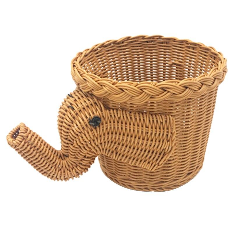 Плетеная корзина для пикника ручной работы с бамбуковым слоном корзина для еды хлеба кемпинга корзина для пикника бамбуковая корзина для хранения фруктов
