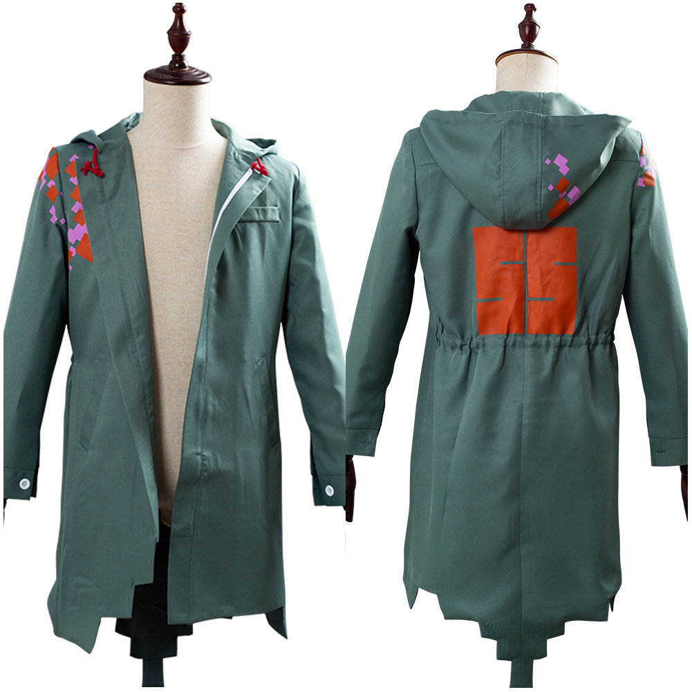 Super Danganronpa 2 Cosplay Costume Komaeda Nagito Jacket Army Green Coat Only Cosplay Costume
