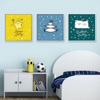 CHILDREN'S Room Decorative Painting Little Girl Bedroom Bedside Hanging Painting Cute Hipster Northern European Style Modern Abs