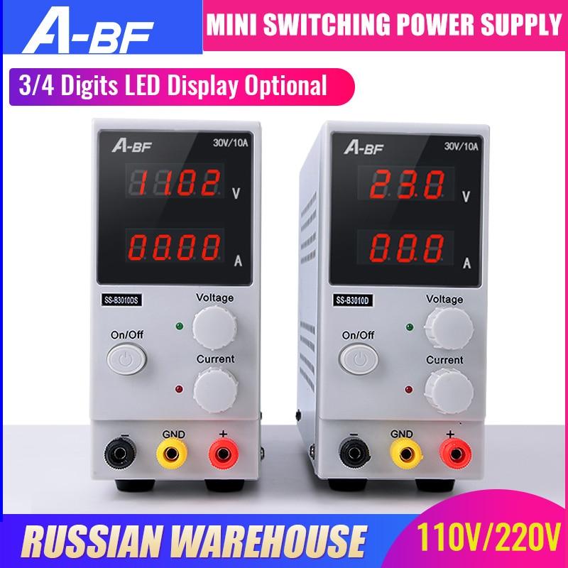 A-BF Mini alimentation à découpage réglable 3/4 affichage nombres LED haute précision 30V 10A alimentation électrique Protection Multiple