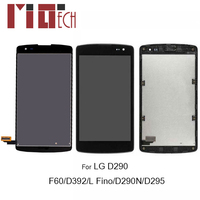 LCD Display For LG LS660 Optimus F60 D390 L Fino D290 D290N D29S Touch Screen Digitizer Assembly Replcement Black No/with Frame