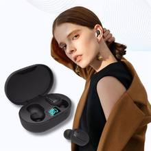 Casque d'écoute sans fil bluetooth E6s, affichage numérique intelligent, pour le sport, batterie, mini oreillette stéréo intra-auriculaire