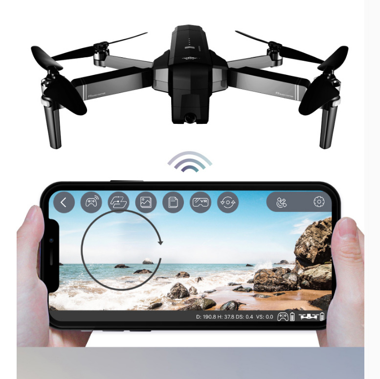 Profession Brushless Smart Double GPS Return Folding Unmanned Aerial Vehicle High-definition Aerial Camera Remote Control Aircra