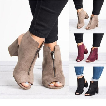 cocoafoal women red heel height sandals plus size 33 40 fashion black pink wedding shoes sexy sheepskin sandals 2018 Hot Europe Women Sandals High-heel Shoes Woman 2020 Spring Summer Fashion Sexy Casual Fish Mouth Wedge Sandals Plus Size 34-43