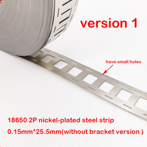 Image 2 - 1kg 2P 18650 Lithium Batterie Nickel Überzogene Stahlband SPCC Nickel Blatt Gürtel Band 0,15mm Batterie Pack stecker 2 in parallel