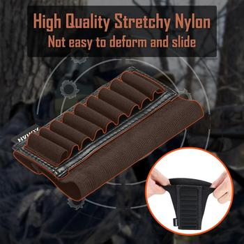 ZOHAN 9 Rounds Tactical Rifle Buttstock Shell Holder Stock Cartridge Holder Ammo Carrier Bullet Pouch Hunting Accessory 5