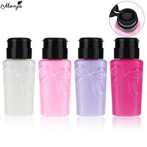 Image 1 - Monja 230ml לחץ בקבוק UV ג ל להסיר נוזל אלכוהול חיטוי אחסון מתקן ריק בקבוק מניקור כלי