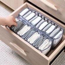 Boîte de rangement de sous-vêtements, tiroirs pliants en maille à 11 grilles, boîte de rangement avec compartiments pour accessoires chaussettes soutien-gorge sous-vêtements