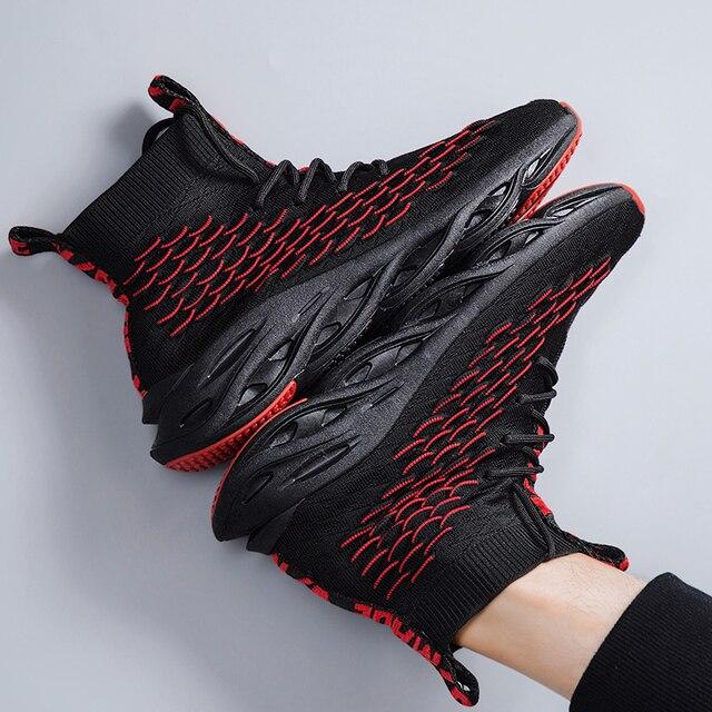 Męskie buty na co dzień oddychające jesień trampki mężczyźni Krasovki Tenis Masculino wysokiej góry Zapatillas lekkie sportowe buty dropshipping 2019