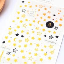 1 paczka/partia moda Suatelier gwiazda miesiąc wytłaczanie na gorąco naklejki DIY etykiety dziennik naklejki papiernicze biuro szkolne