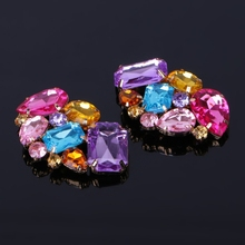 Buy Color Shoe Clips Fashion Triangle Glass Wedding Bridal Decoration Accessories directly from merchant!