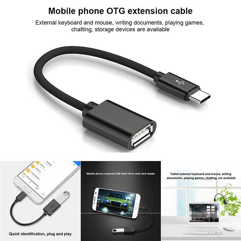 Micro USB OTG Cable Data Transfer Micro USB Male To USB Female Adapter For Samsung HTC Android