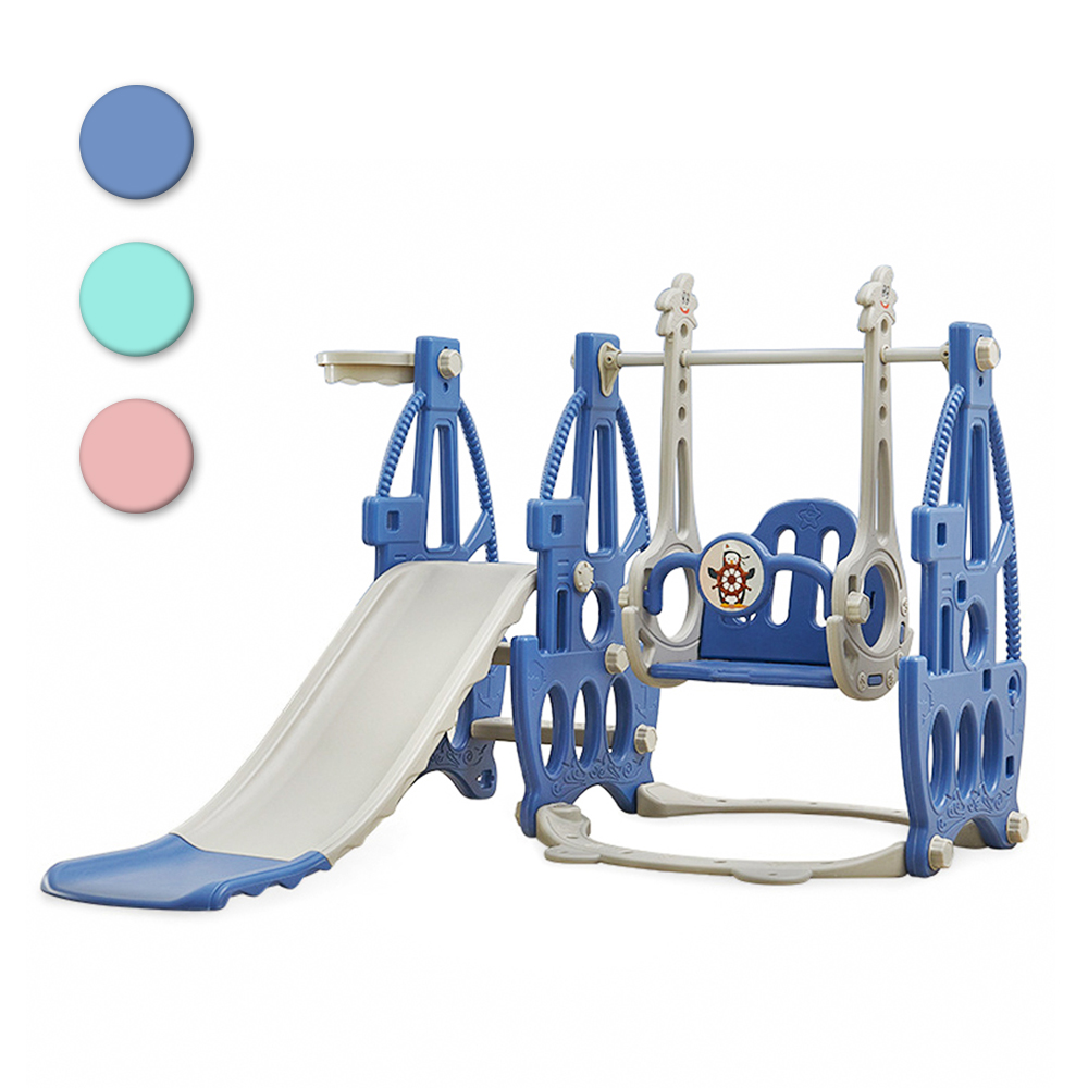 3 In 1 Children Slide and Swing Combination with Basket Baby Swing chair Indoor Outdoor Kids Garden Slides Playground Sports Toy(China)