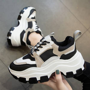 Women's Chunky Sneakers Thick Bottom Platform Vulcanize Shoes Fashion Breathable Casual Running Shoe for Woman Female 2020