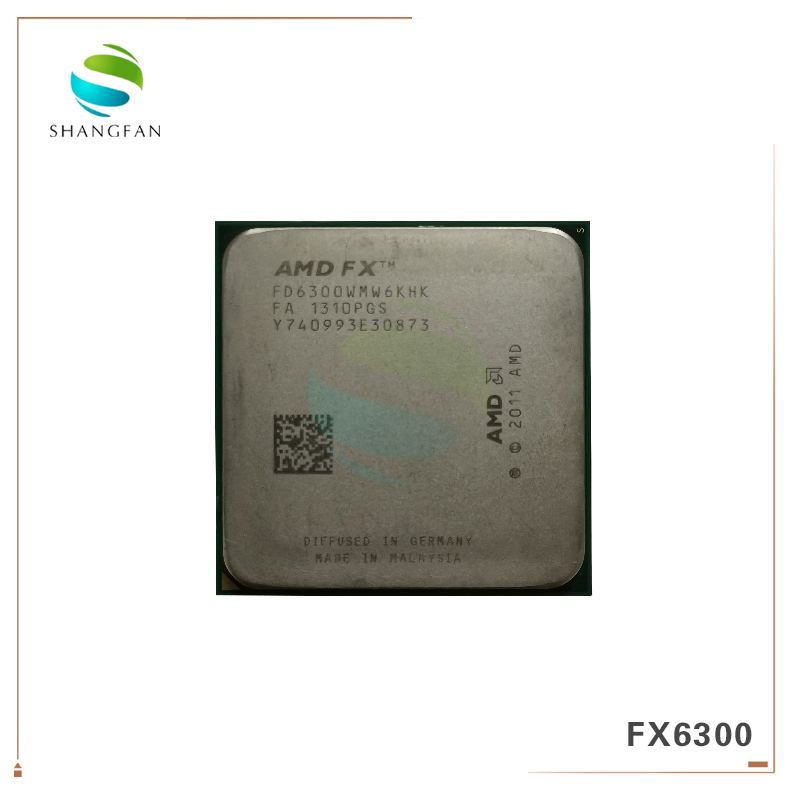 AMD FX-Series FX6300 3.5GHz SIX-Core CPU Processor FX 6300 FD6300WMW6KHK 95W Socket AM3+ image