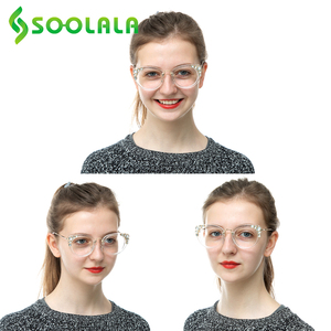 Image 5 - SOOLALA Cateye Reading Glasses Womens Luxury Rhinestone Eyeglasses Leopard Black Purple Presbyopia Reading Glasses +0.5 to 4.0