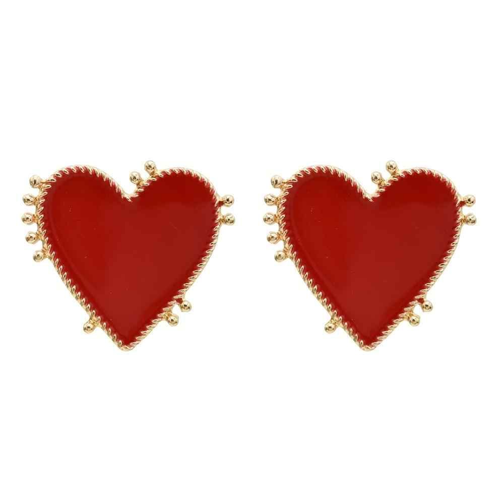 2019 New Design Chic Vintage Exaggerate Lady Earring Women Metal Gold Color Eye Heart Drop Earrings Fashion Party Jewelry