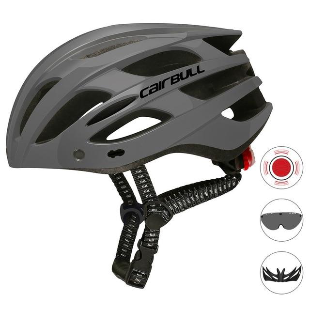 Cairbull capacete de ciclismo respirável, com viseira removível, óculos de bicicleta, lanterna traseira, segura, capacetes de montanha e estrada mtb 4