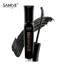 Saniye 3d rímel alongamento preto lash extensão cílios olho escova beleza maquiagem longo-vestindo rímel preto m1032