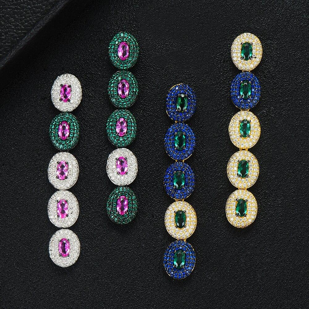 GODKI Brand Famous Luxury Waterdrop Charm Earring for Women  Wedding Full Micro CZ Cubic Zircon Dubai Indian Earrings Bohemia  HotDrop Earrings