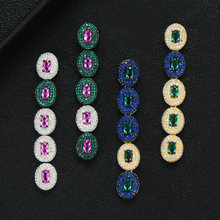 GODKI Brand Famous Luxury Waterdrop Charm Earring for Women Wedding Full Micro CZ Cubic Zircon Dubai Indian Earrings Bohemia Hot