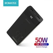 ROMOSS – chargeur externe Portable pour Smartphone, 50W, 20000 mAh, PD QC, Charge rapide, 20000 mAh, pour ordinateur Portable