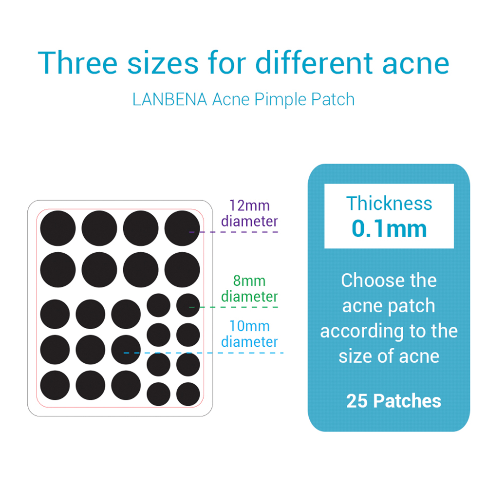 Image 5 - LANBENA Acne Pimple Patch Invisible Acne Removal Acne Stickers Blemish Treatment Face Skin Care Pimple Remover Tool-in Face Skin Care Tools from Beauty & Health