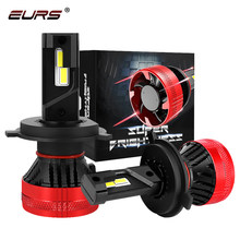 EURS 2PCS H4 H7 55w F5 Led Headlight H11 Bulb H3 9005 9006 LED H8 12V Auto Light Fog Lamp H1 Bulb 10000LM 6500K Car Accessories