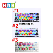 Adobe Photoshop Shortcut keys Keyboard Protector Skin Film For iPhone Macbook Pro Air 13 15 17 KC_A1278_US_EU Photoshop