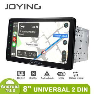 Image 1 - Android 10.0 head unit car radio GPS Navigation 4GB RAM universal 1280*720 2 din autoradio video RDS DSP 4G multimedia BT HD DSP