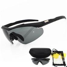 2020 3 เลนส์ 2 มม.ความหนาทหารแว่นตาแว่นตากันแดดผู้ชายBullet proof Armyยุทธวิธีแว่นตายิงแว่นตา