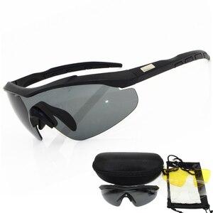 Image 1 - 2020 военные очки с 3 линзами и толщиной 2 мм, солнцезащитные очки, мужские армейские тактические очки с защитой от пули, очки для стрельбы