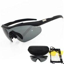 2020 3 lens 2mm kalınlığında askeri gözlük güneş gözlüğü erkekler kurşun geçirmez ordu taktik gözlük çekim gözlük