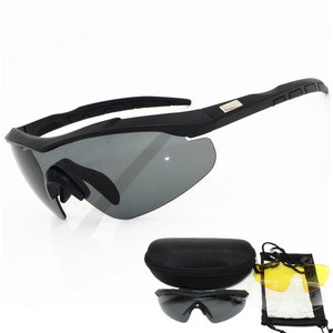 Image 1 - 2020 3 lens 2mm thickness Military Goggles  Sunglasses Men Bullet proof Army Tactical Glasses shooting Eyewear