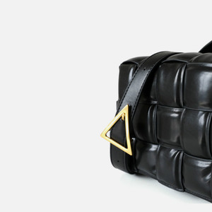 Genuine Leather Women Bag 2019 Women bag new fashion Cassette stitching small square bag plaid bread leather handbag