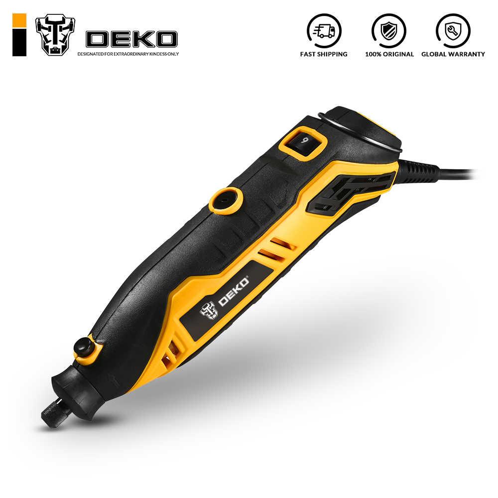 DEKO DKRT01 220V vitesse Variable Mini meuleuse électrique perceuse coupe polissage forage outil rotatif avec accessoires