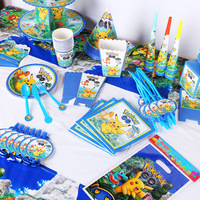 2019 Children's birthday festival party supplies candy boxes tablecloth cake rack suit