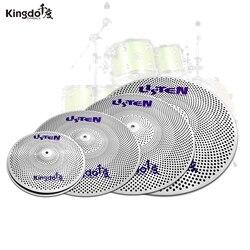 Kingdo 2020 Spezielle bieten cymbal set niedrigen volumen becken slience stumm 5 stücke becken set für drum set