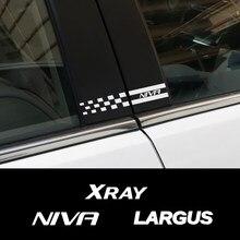 Pour Lada Xray Largus Niva Auto accessoires 2 pièces voiture fenêtre B piliers colonne couverture réfléchissante garniture autocollant vinyle décoratif décalque