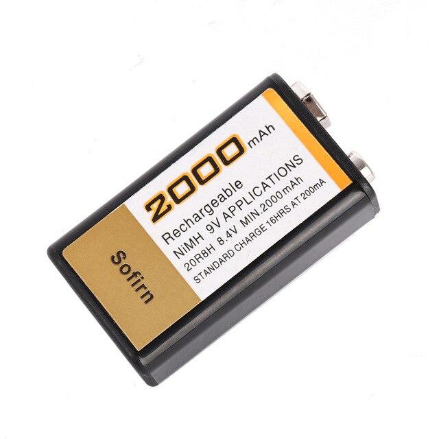 Nova bateria 9v 2000mah nimh recarregável 9v nimh para microfone sem fio brinquedo controle remoto de carro