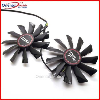 2pcs/lot PLD10010S12HH 12V 0.40A 95mm VGA Fan For MSI R9-290X R9-280X R9-270X R7-260X Twin Frozr Graphics Card Fan image