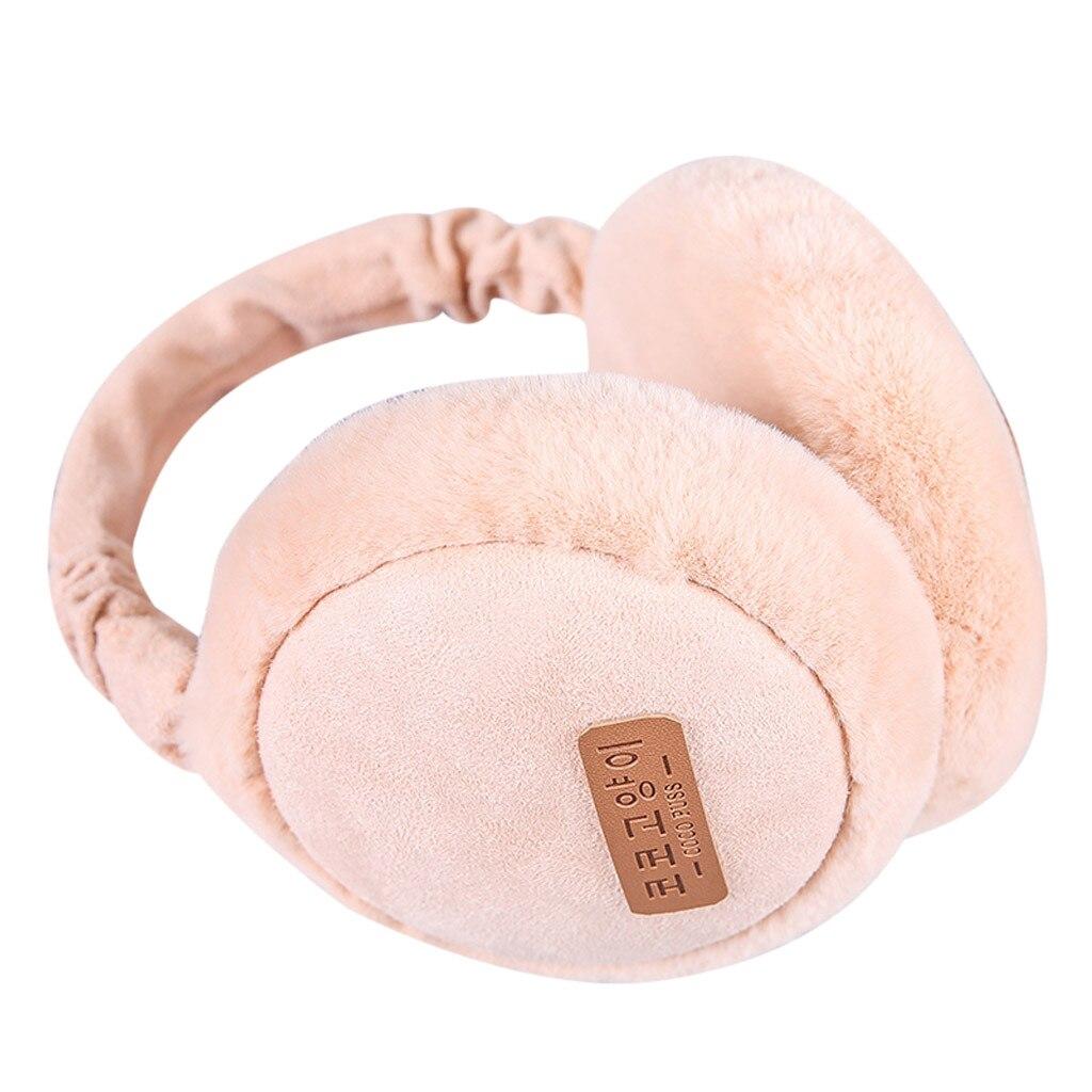 Unisex Fashion Folding Earmuffs Winter Ear Warm Soft Plush Earmuffs Fur Warm Foldable Headphones 10.14