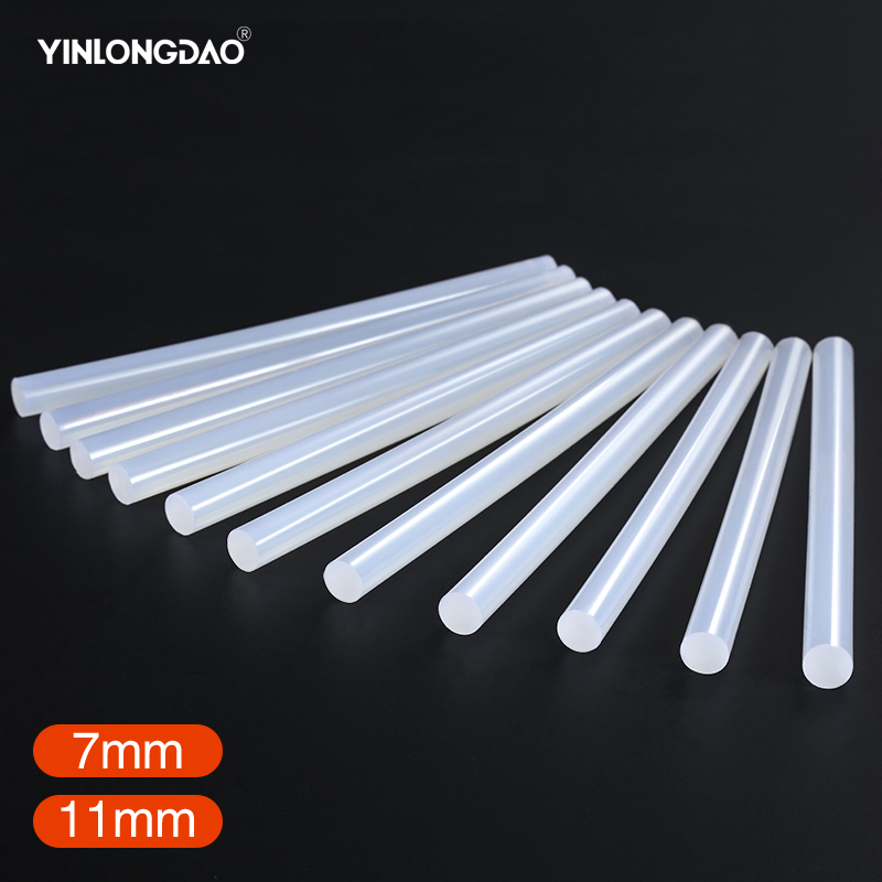 YINLONGDAO 20Pcs/Lot 7mmx150mm/11m X200mm Hot Melt Glue Sticks For Electric Glue Gun Silicone Craft Album Repair Tools For Alloy