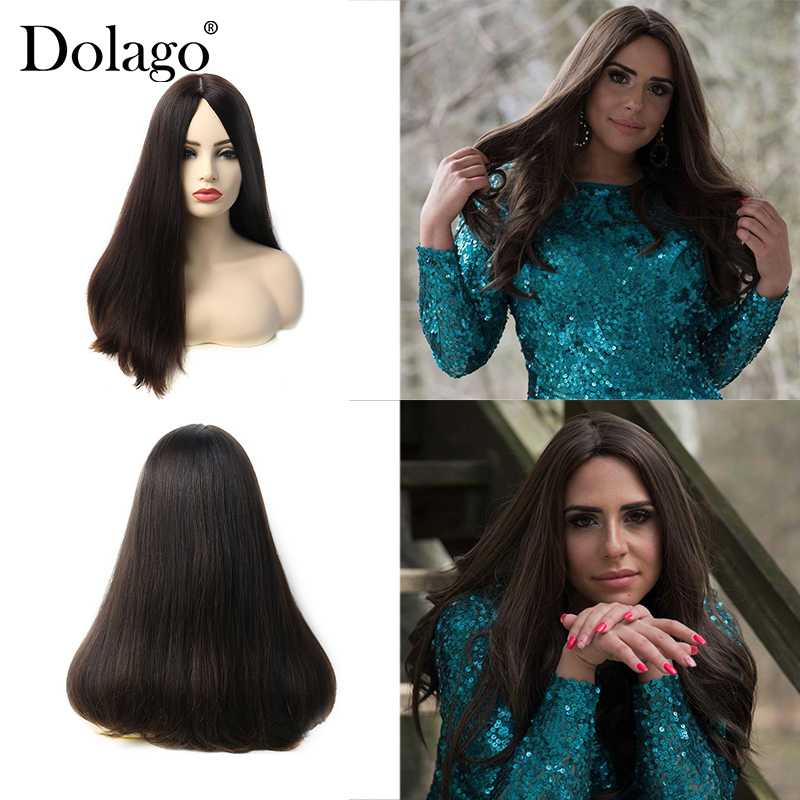 Silk Base Lace Front Human Hair Wigs Double Drawn Jewish Wig Kosher European Virgin Hair Unprocessed 130% Lace Wig Dolago Hair