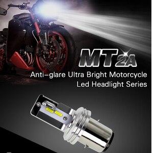 Image 2 - MT Series 1 Pc BA20D H6 Led Motorcycle Headlight Bulb Anti Glare Ultra Moto Super Bright White Motorbike Head Lamp 12V 6500K