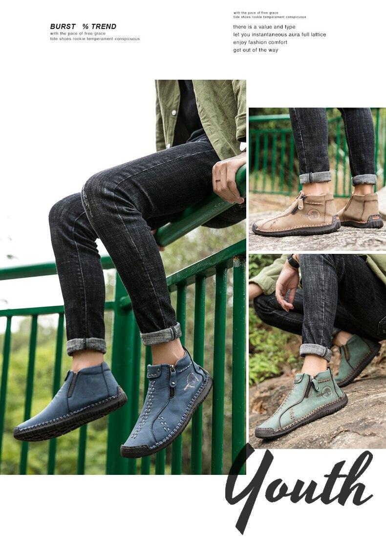 livre com zíperes moda casual sapatos masculinos com costura artesanal