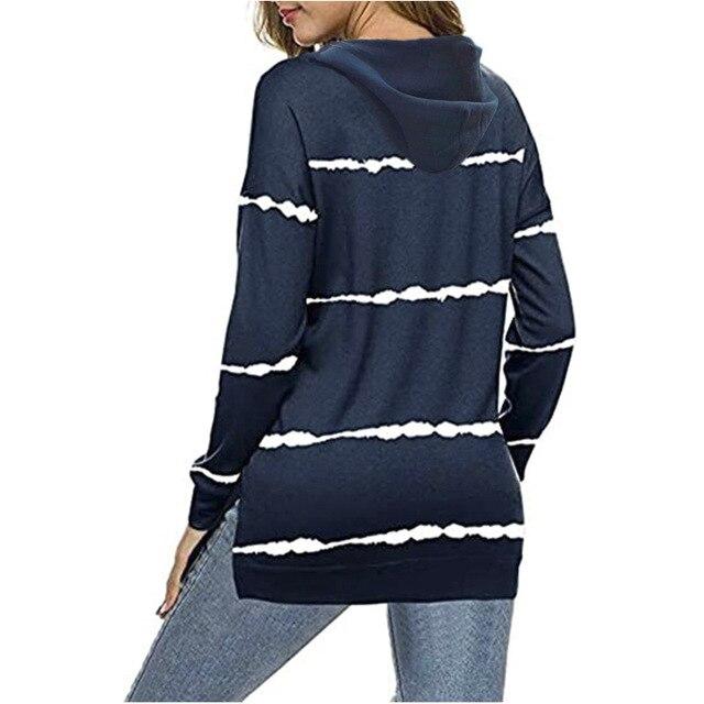 Oversize Women Tie Dye Drawstring Hooded Sweatshirt Autumn 2020 New Winter Long Sleeve Casual Loose Hoodies Tops Plus Size S-5XL 6