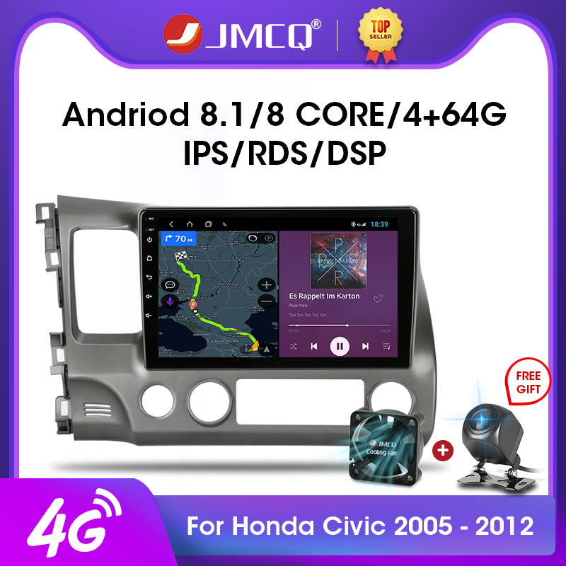 JMCQ 2G 32G Android 8 1 4G WiFi Car Radio Multimedia Video Player For Honda Civic 2005-2011 Autoradio Navigation GPS Head Unit