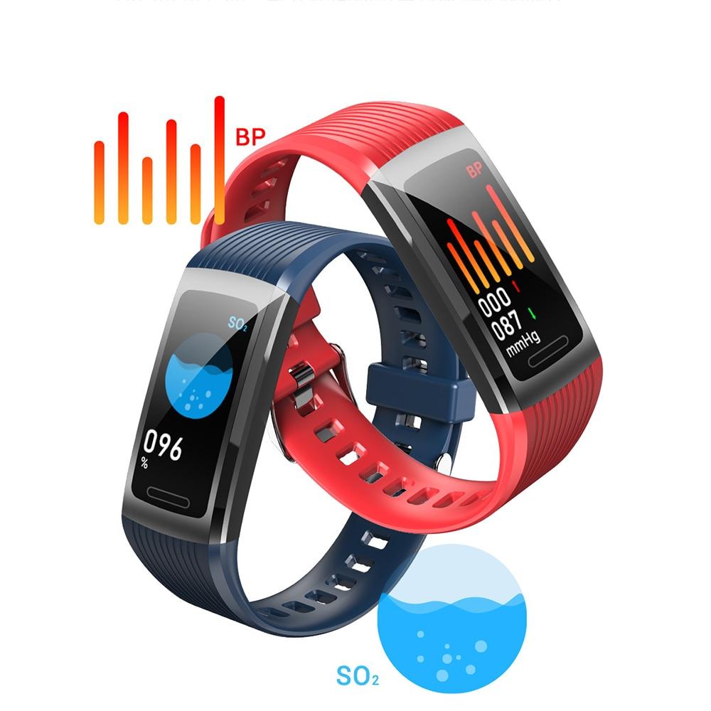 1Pc Smart Sports Bracelet Blood Pressure Measurement Heart Rate Activity Monitoring Sleep Waterproof Bluetooth Bracelet Band
